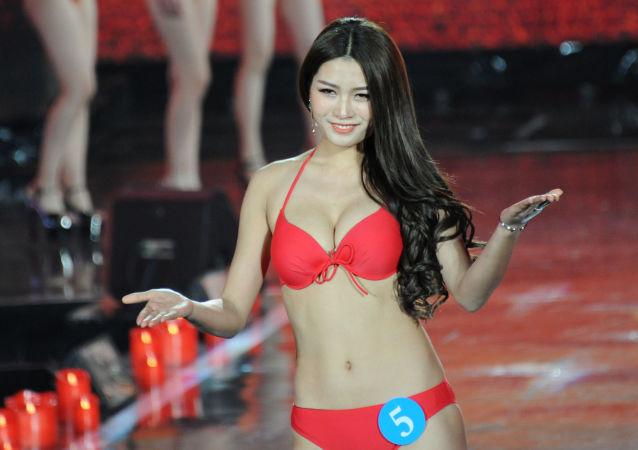 Il concorso internazionale della bellezza La regina della neve in Cina