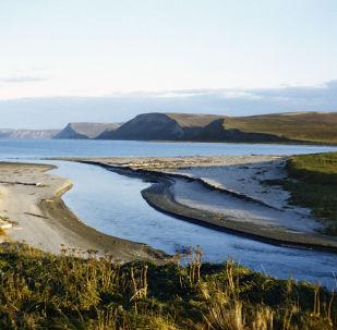 Il 'fiume di mezzo' sull'isola di Bering