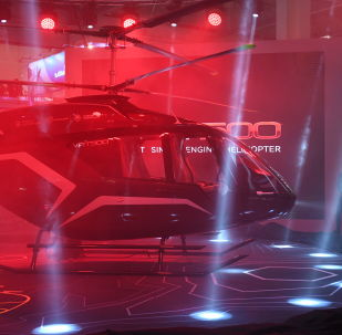 L'elicottero VRT 500 della Holding Vertolety Rossii (Russian Helicopters) ad HeliRussia 2018.