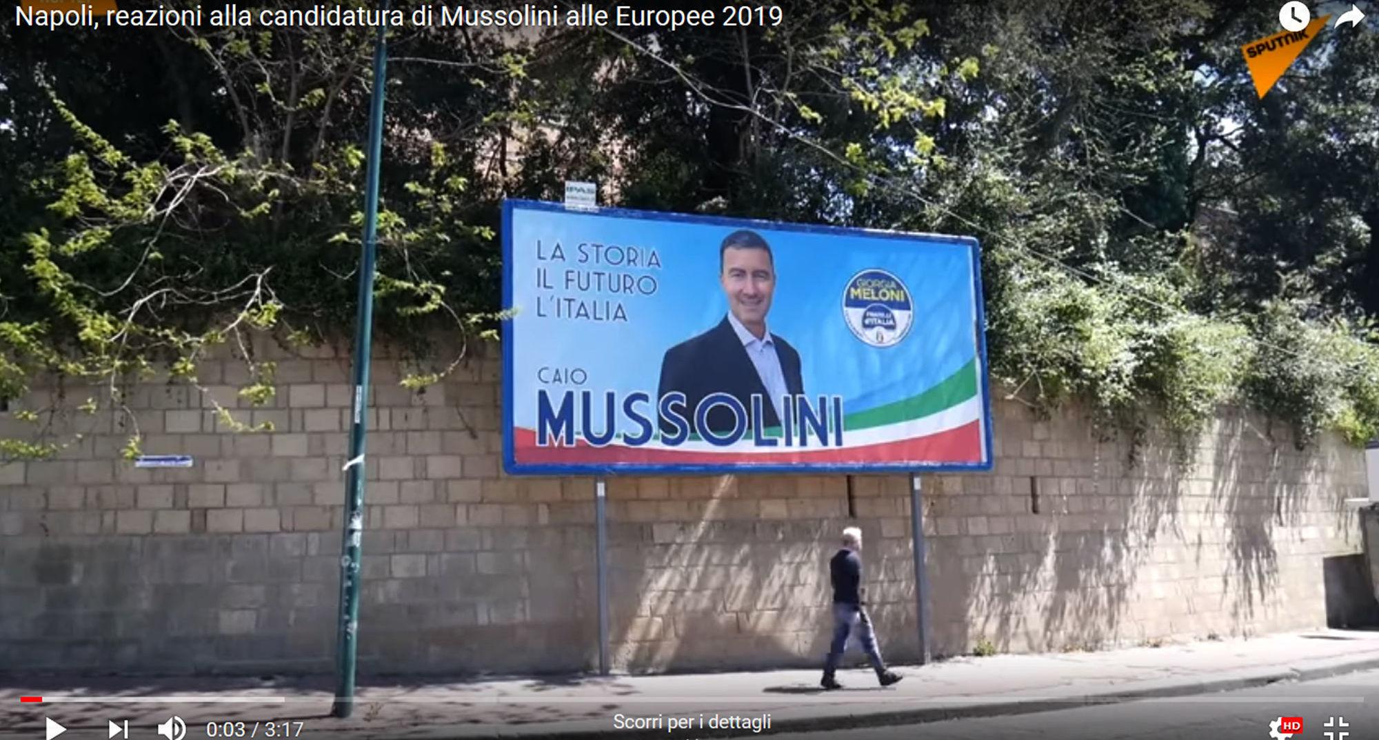 Fratelli d'Italia candida Mussolini