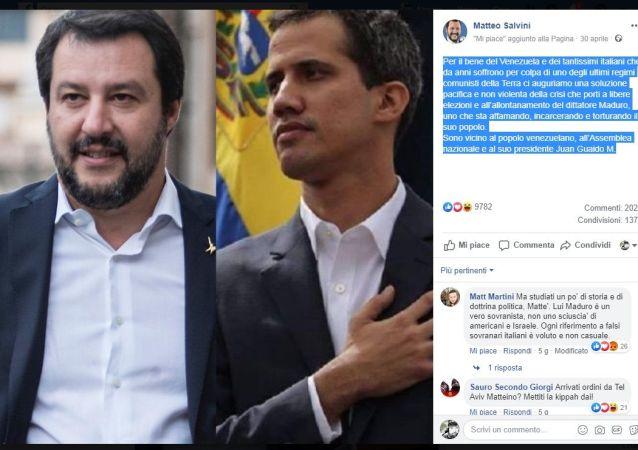 Salvini a sostegno di Guaidò il 30 aprile