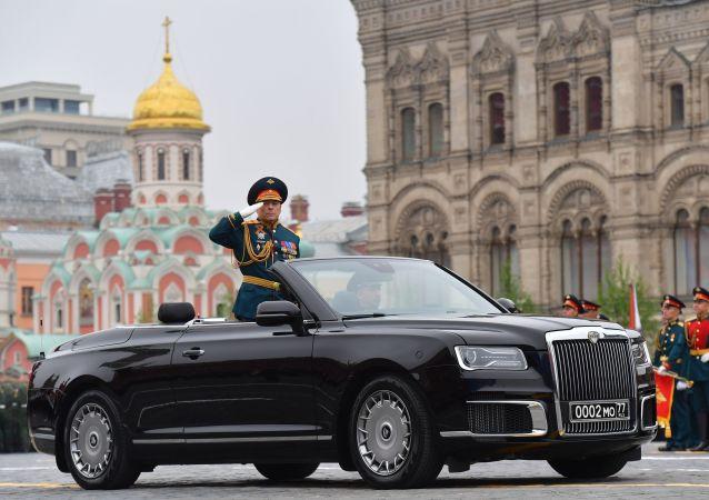 Il generale colonnello Oleg Salyukov alla Parata della Vittoria 2019