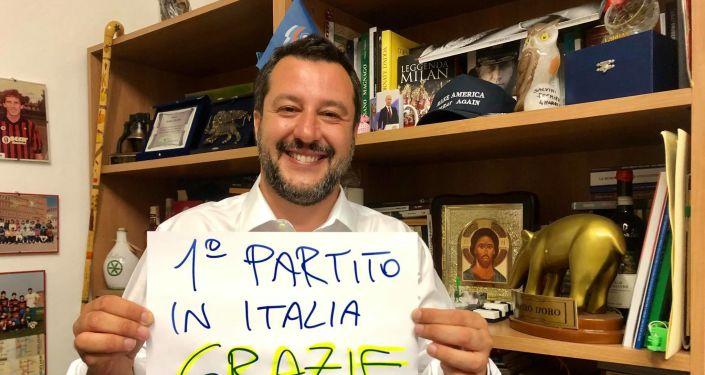 Matteo Salvini ringrazia i suoi elettori per il sostegno alle Europee 2019