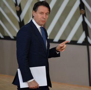 Il presidente del Consiglio dei ministri della Repubblica Italiana Giuseppe Conte