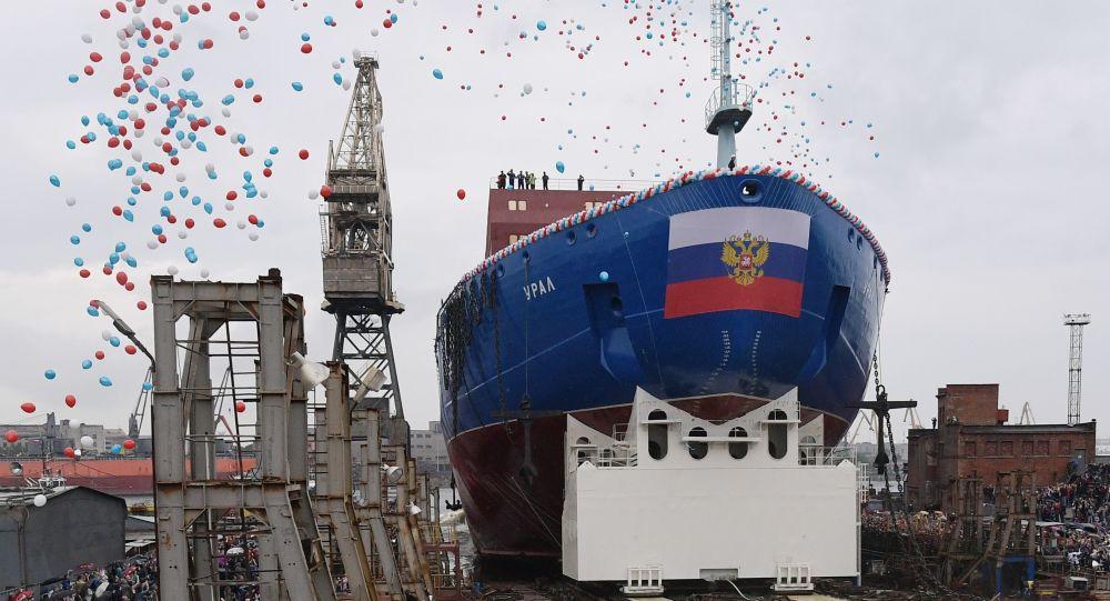 A San Pietroburgo varata la nuova rompighiaccio Ural