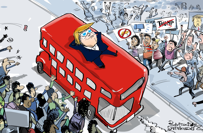 Trump a Londra: ma quali proteste, gli inglesi mi amano