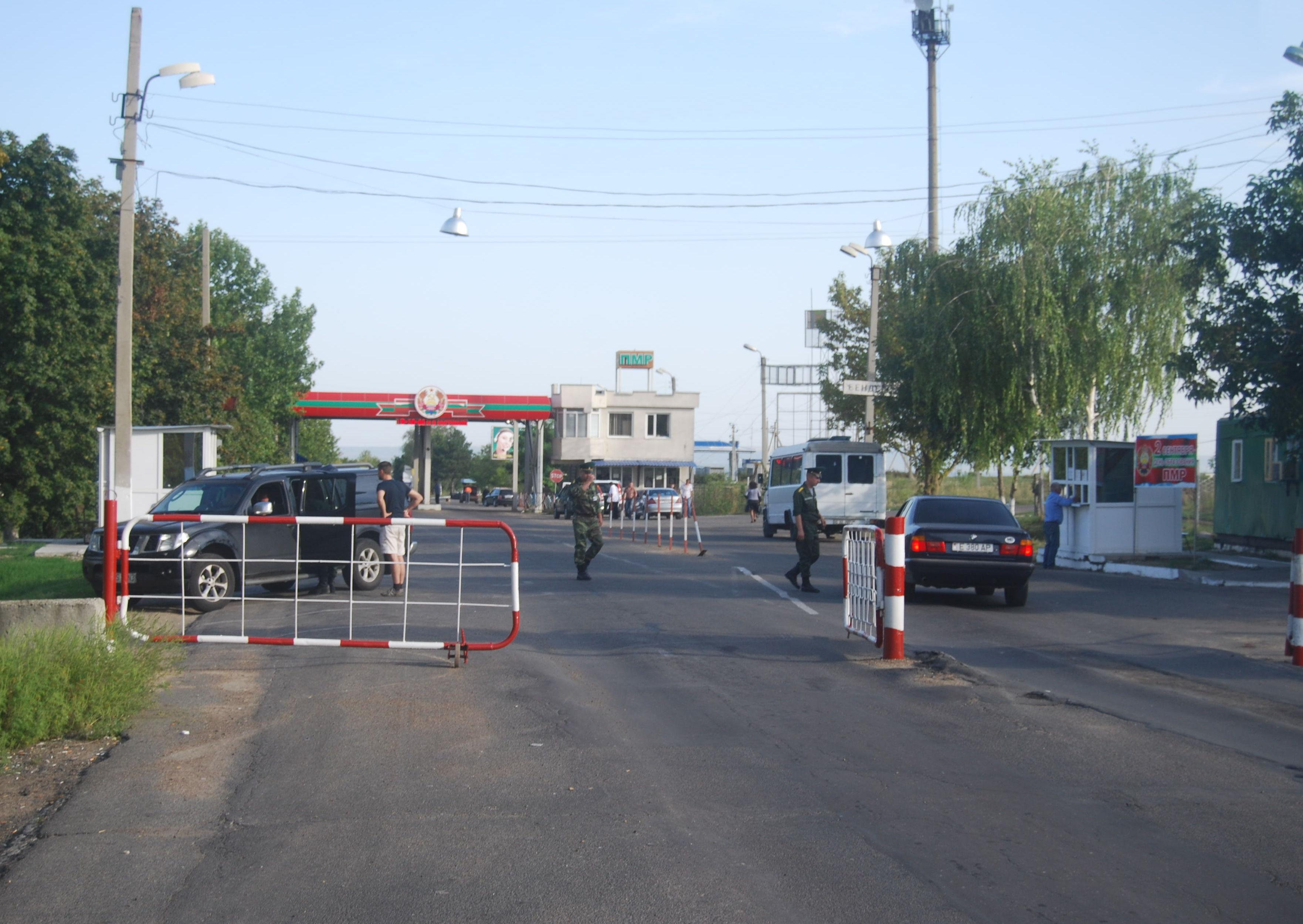 Il confine tra Transnistria e Moldavia