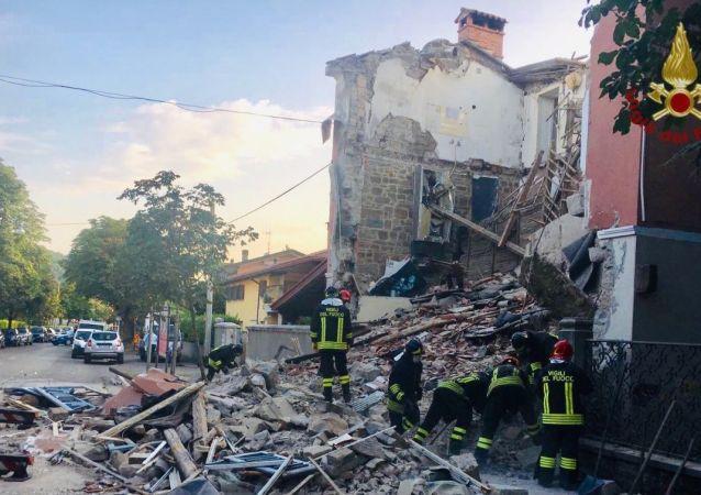 Esplosione gas a Gorizia, crolla palazzina (20.06.2019)