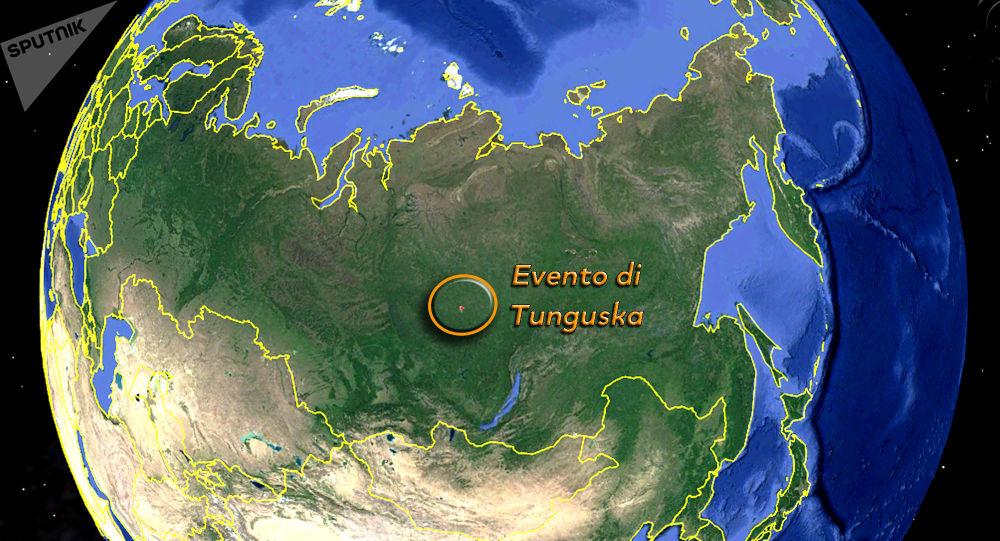 L'evento di Tunguska sulla mappa