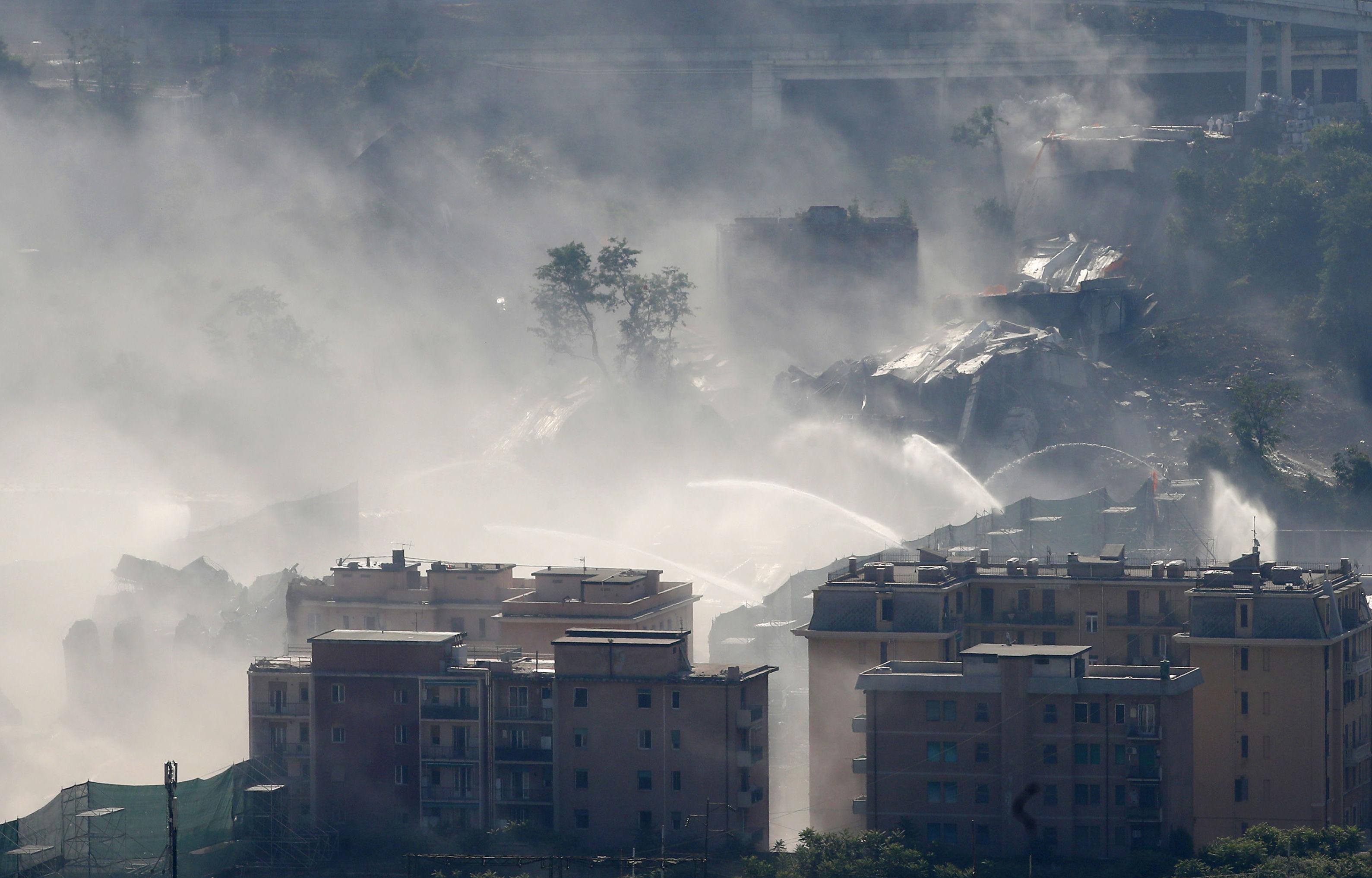 Dopo la demolizione del ponte Morandi a Genova, 26.08.2019