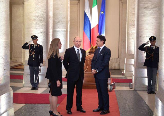 Il presidente russo Vladimir Putin in visita ufficiale a Roma