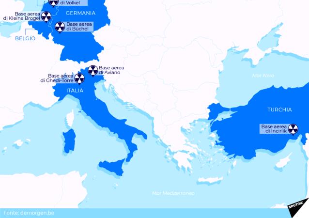 Ecco dove situate le armi nucleari americane in Europa
