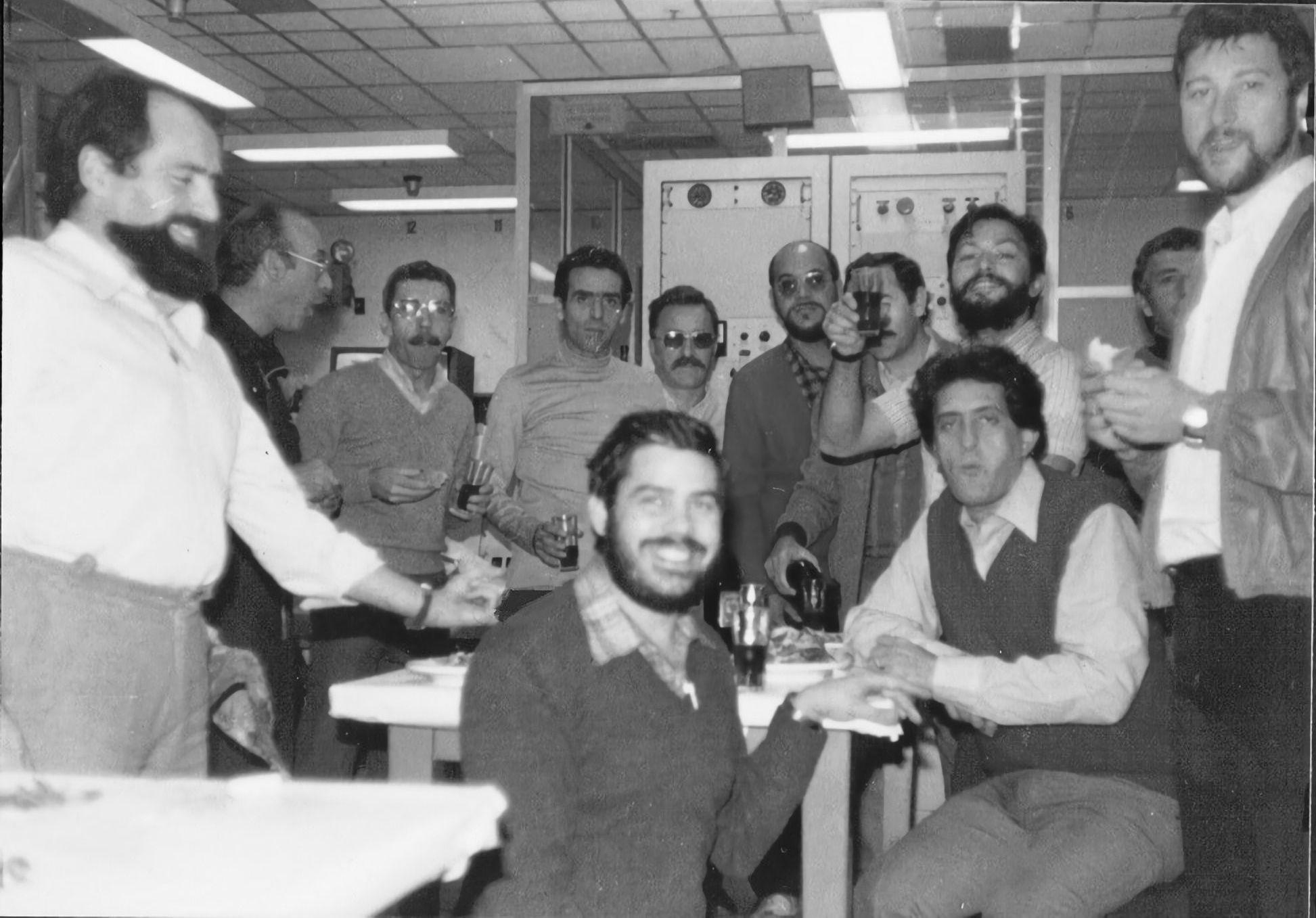 20 luglio 1969. Centro Robledo de Chavela. Festeggiamenti per l'avvenuto allunaggio dell'Apollo-11.