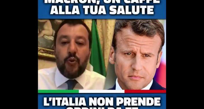 Polemica social - Salvini Macron