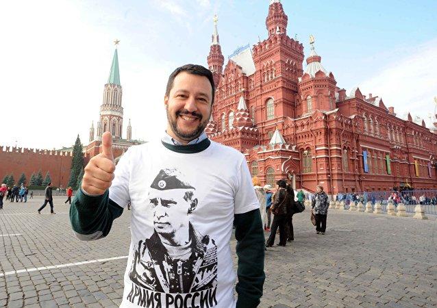 Matteo Salvini in Piazza Rossa