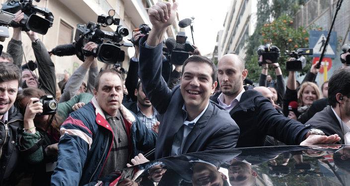 Primo ministro greco Alexis Tsipras/ gennaio 2015