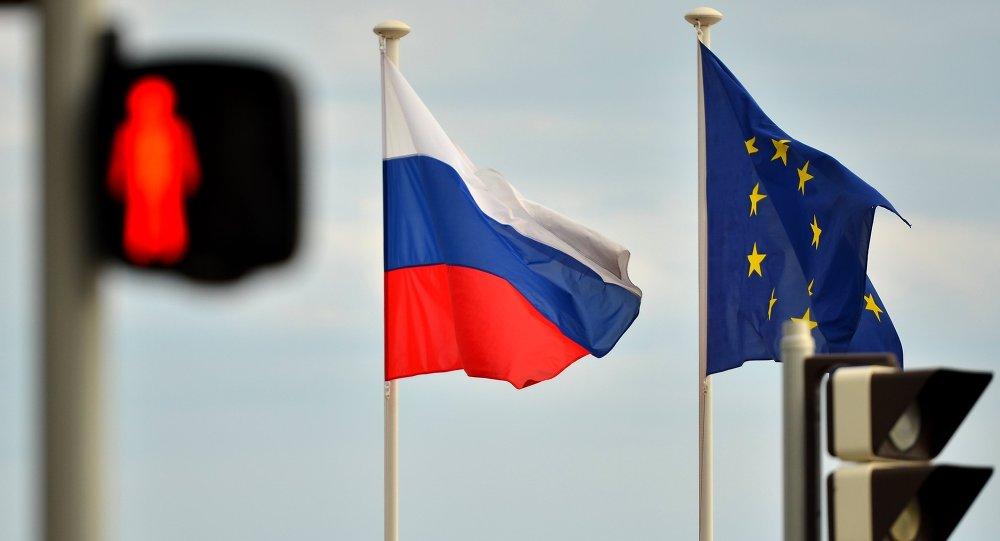Bandiere di Russia e UE