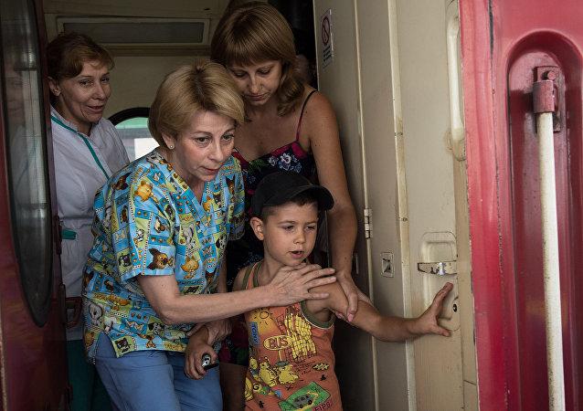 Bambini del Donbass (foto d'archivio)
