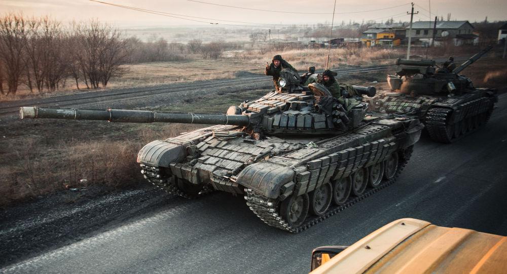 Miliziani della regione di Donetsk