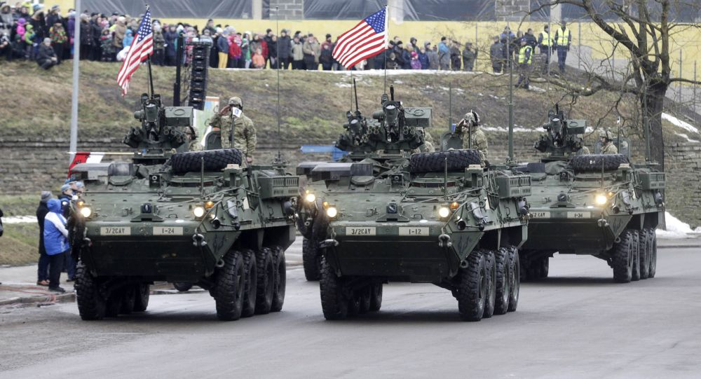 Militari USA in Estonia, parata militare