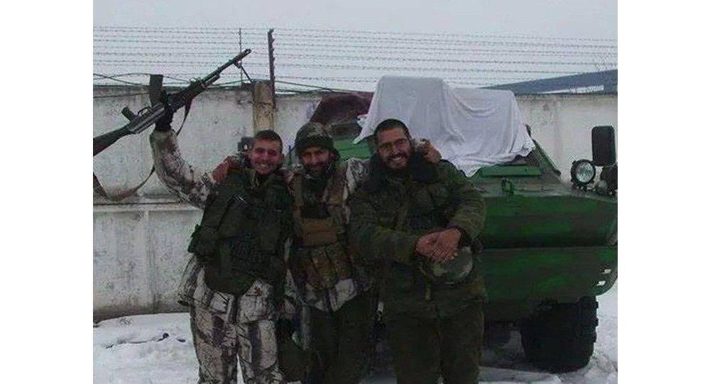 Volontari spagnoli della milizia DNR