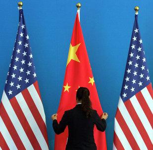 Bandiere di Cina e USA