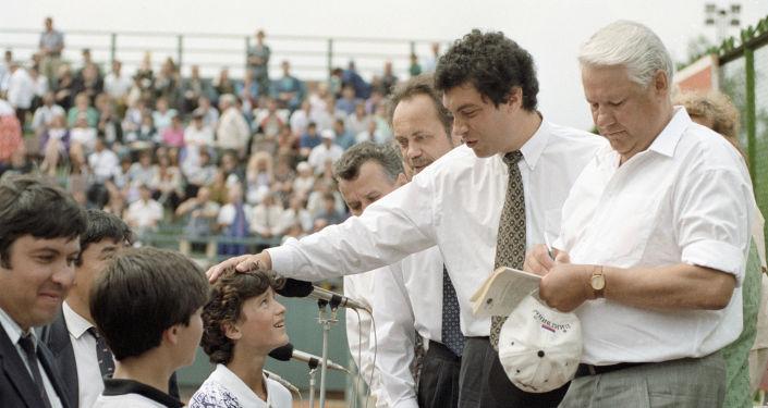 Boris Nemtsov e Boris Eltsin