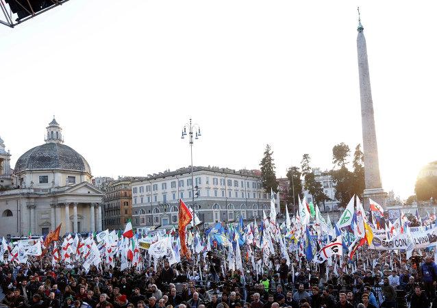 Manifestazione del centrodestra (foto d'archivio)