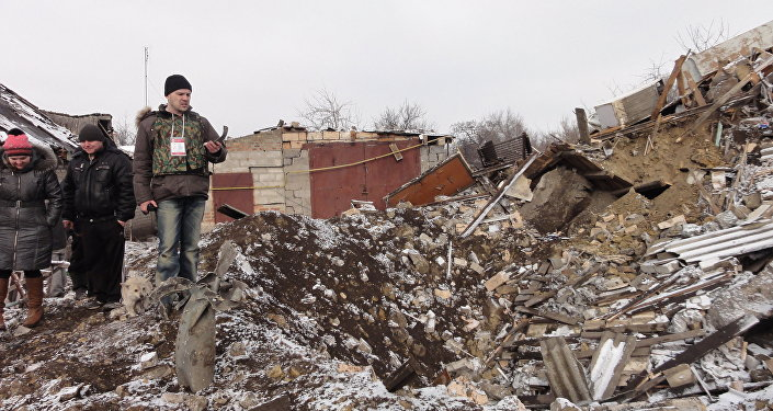 Donbass risultato di una bomba