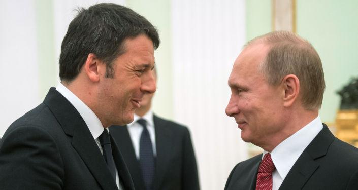 Renzi e Putin al Cremlino