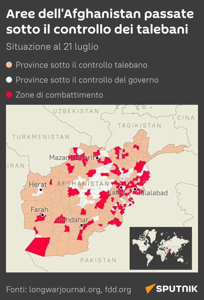 Territori sotto il controllo dei Talebani - Sputnik Italia