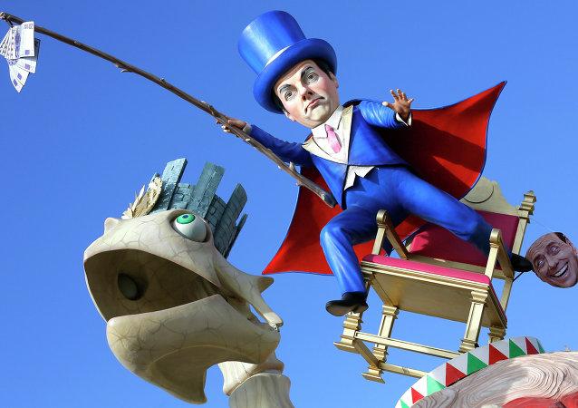 Renzi al Carnevale di Viareggio