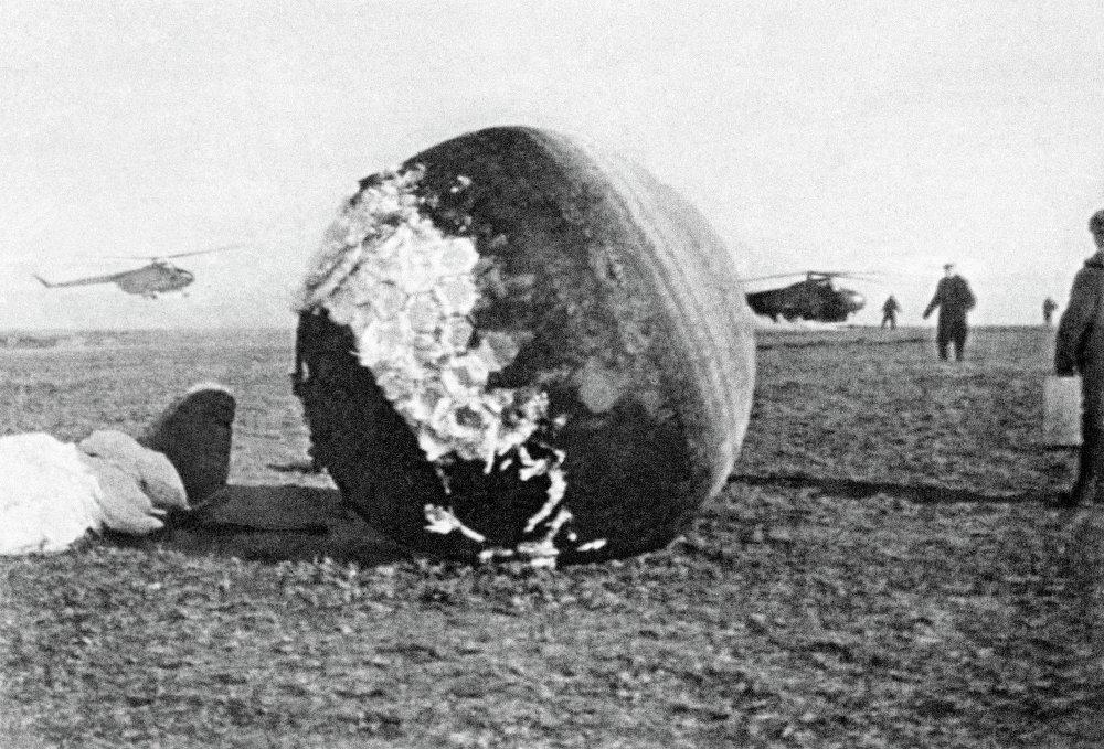 La navicella Vostok-1 a bordo della quale Yuri Gagarin orbitò intorno alla Terra il 12 Aprile 1961
