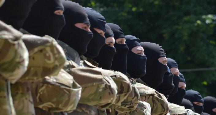Una divisione del battaglione Azov.