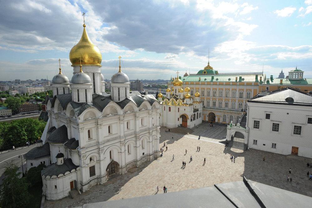 La Cattedrale dell'Arcangelo nel Cremlino di Mosca