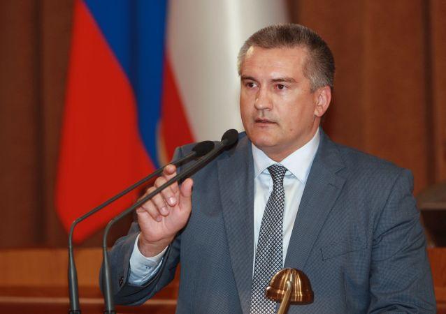 La massima autorità della Crimea Sergey Aksyonov