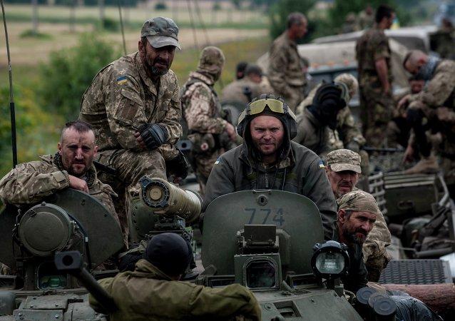 Soldati ucraini nel Donbass (foto d'archivio)