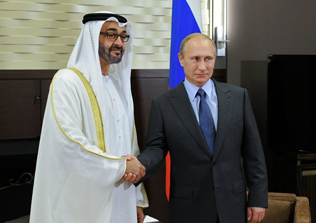 Vladimir Putin e Mohammed bin Zayed bin Sultan Al Nahyan