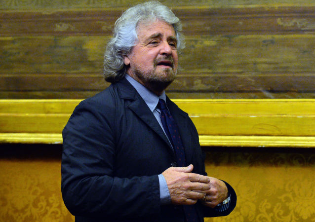 Il leader del Movemento 5 stelle Beppe Grillo.