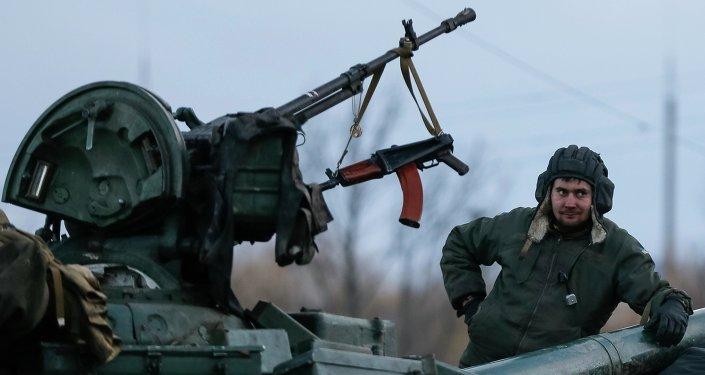 Tank ucraino nel Donbass
