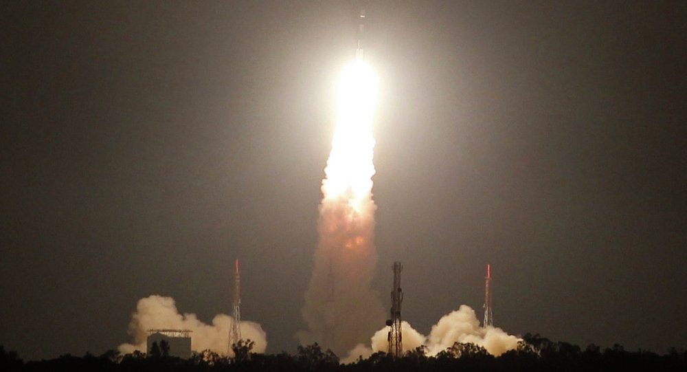 Lancio di un satellite in India
