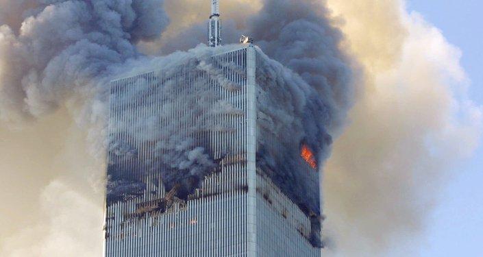 Attentato di Al Qaeda l'11 settembre 2001 al World Trade Center, New York - USA