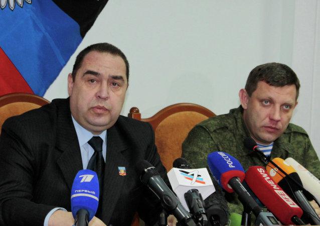 Igor Plotnitsky ed Alexander Zakharchenko, leader delle Repubbliche Popolari di Donetsk (DNR) e Lugansk (LNR)
