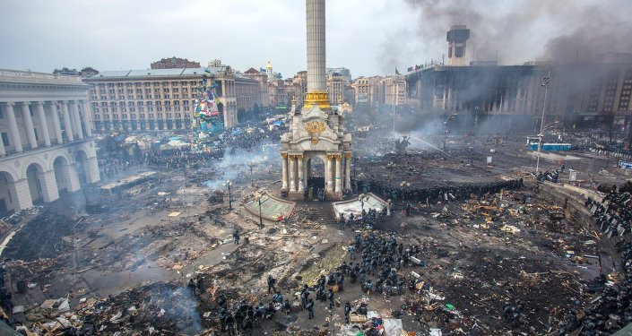 Piazza Maidan a Kiev, Ucraina, 2014.