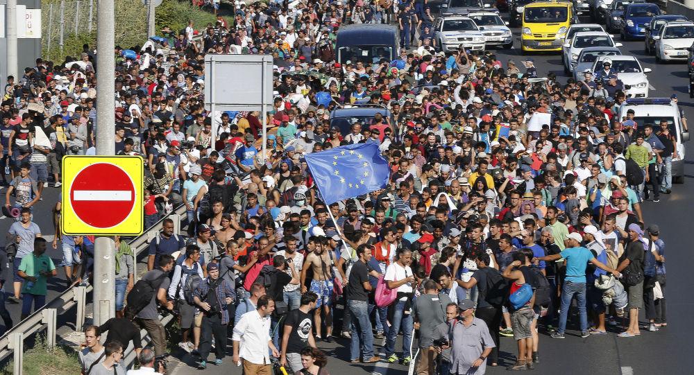 Migranti a Budapest