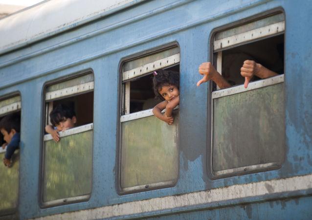 Treno di profughi (foto d'archivio)