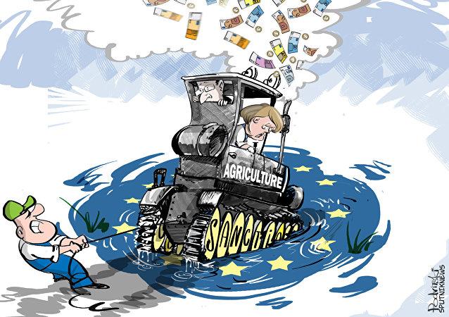 """Oltre 5mila agricoltori """"circondano"""" i palazzi del potere UE a Bruxelles"""