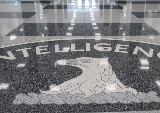 The Central Intelligence Agency (CIA) logo is displayed in the lobby of CIA Headquarters in Langley, Virginia, on August 14, 2008