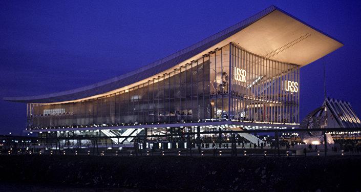 Il padiglione dell'URSS all'Esposizione Universale del 1967 a Montreal.