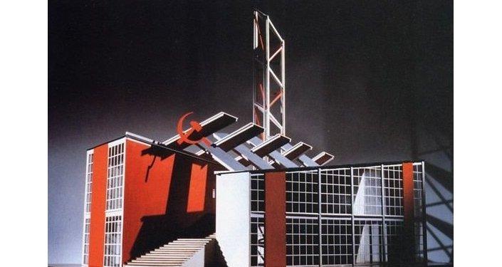 Il progetto del padiglione sovietico all'Esposizione Universale di Parigi 1925
